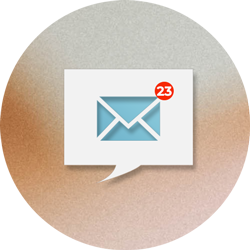 The photo shows an icon with a lot of emails in the inbox. Read more, how has email impacted business communication.