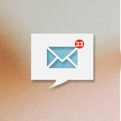 Das Foto zeigt ein Symbol mit vielen E-Mails im Posteingang. Die Unternehmen stellen eine Zunahme der internen Kommunikation fest. Informationsflut überfordert. Mit Kultur gegen die e-Mail Flut.